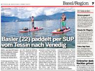 Samuel Schwarz paddelt mit einem Airboard Shark nach Venedig.